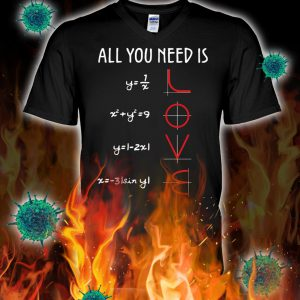 All you need is love math v-neck
