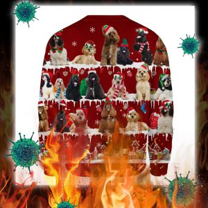 American Cocker Spaniel snow christmas ugly sweater- pic 2