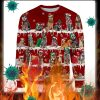 Australian Cattle Dog snow christmas ugly sweater
