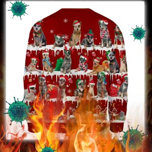 Australian Cattle Dog snow christmas ugly sweater- pic 2