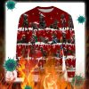 Australian Kelpie Dog snow christmas ugly sweater