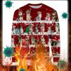 Australian Shepherd Dog snow christmas ugly sweater