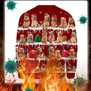 Australian Terrier Dog snow christmas ugly sweater- pic 2