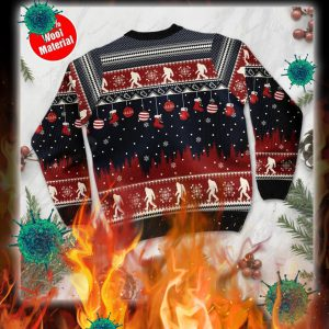 Believe in bigfoot 3d christmas sweater- pic 2