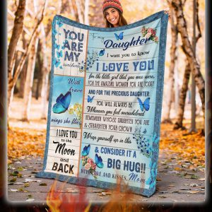 Butterfly to my daughter i want you to know love mom blanket 1