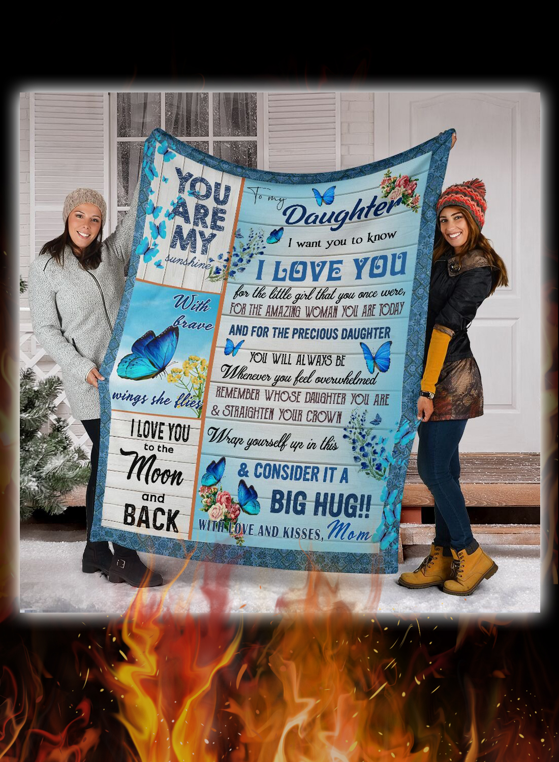 Butterfly to my daughter i want you to know love mom blanket 2
