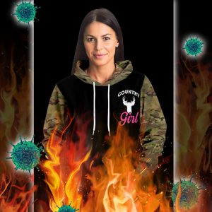 Country girls don't retreat they reload hunt 3d hoodie- pic 1