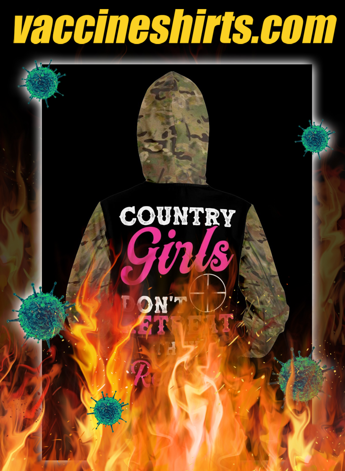 Country girls don't retreat they reload hunt 3d hoodie- pic 2