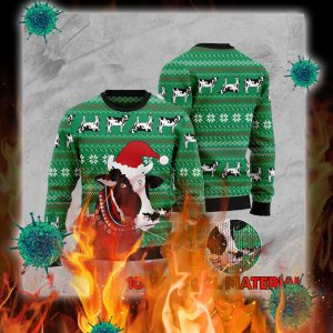 Dairy cattle cow christmas sweater