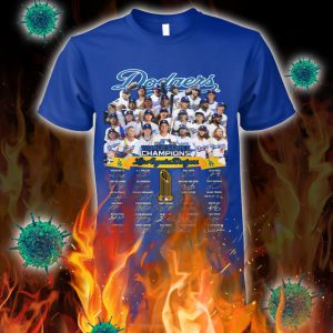 Dodgers world series champions signature shirt