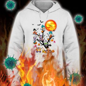 Dragon ball characters tree halloween hoodie