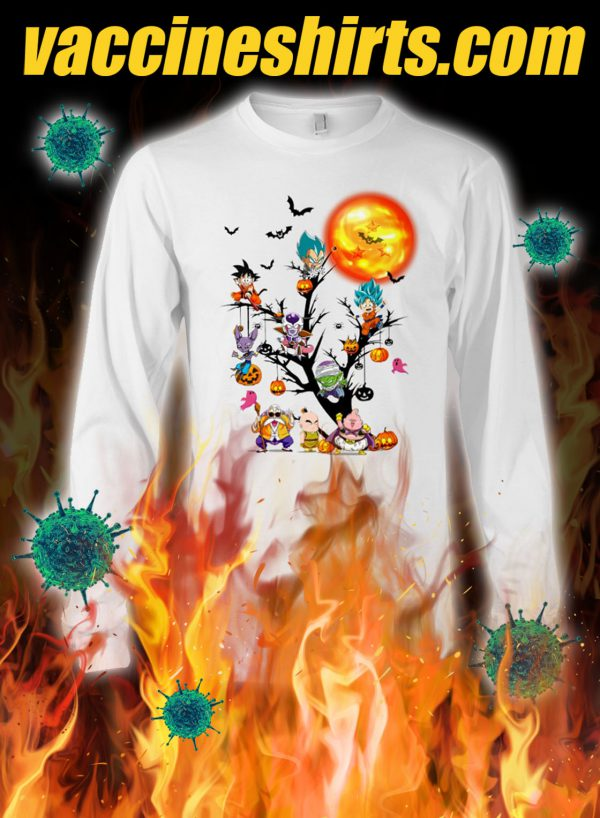 Dragon ball characters tree halloween longsleeve tee