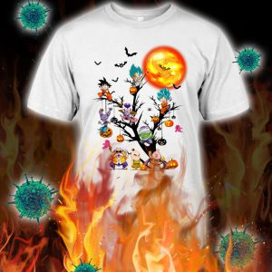 Dragon ball characters tree halloween shirt