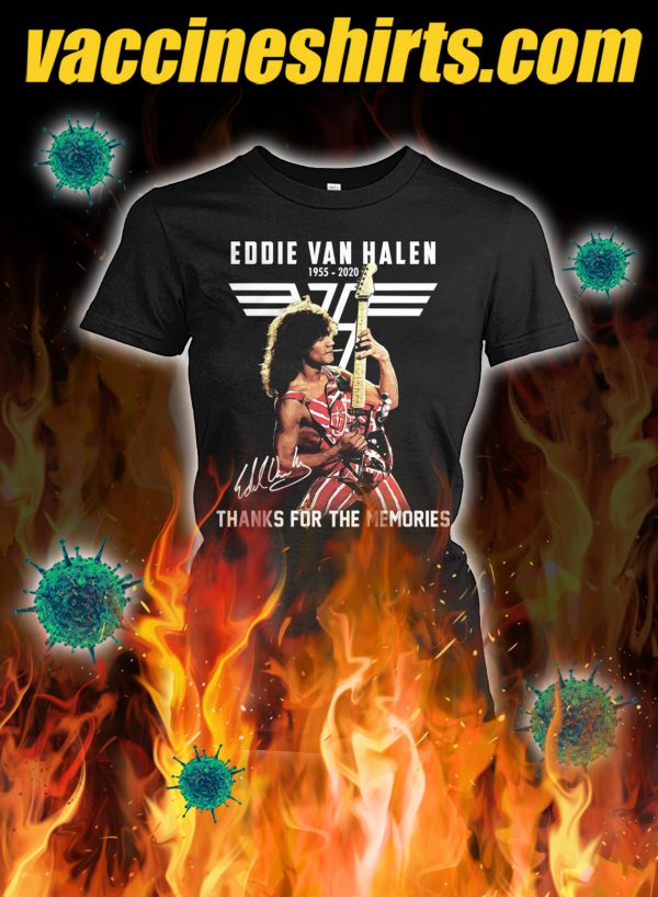 Eddie van halen thanks for the memories signature lady shirt