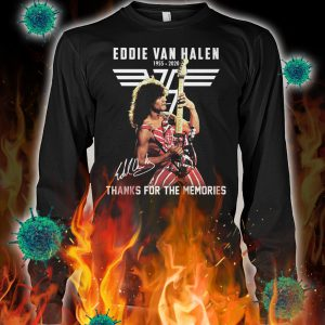 Eddie van halen thanks for the memories signature longsleeve tee