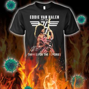 Eddie van halen thanks for the memories signature shirt