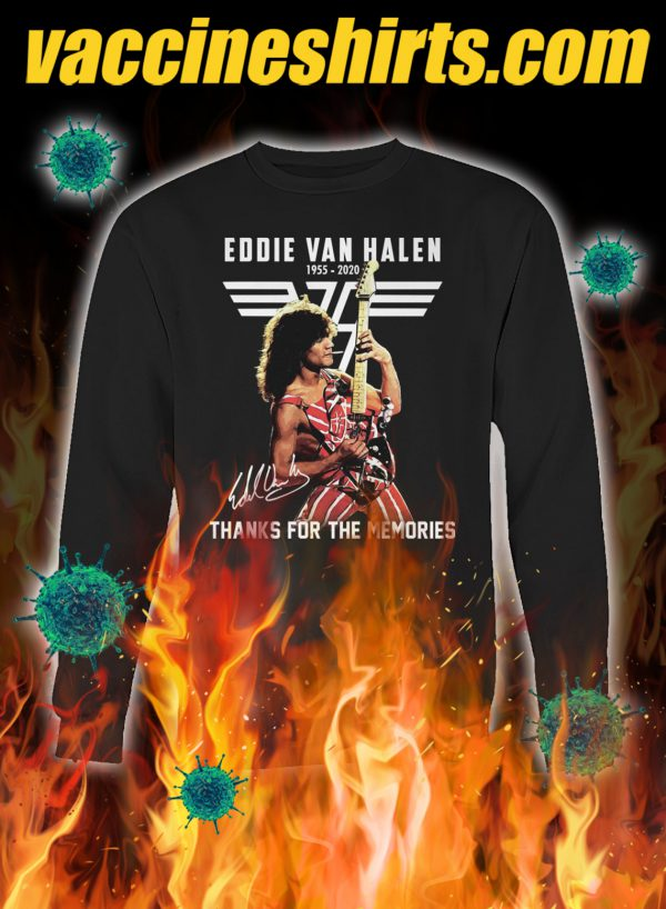 Eddie van halen thanks for the memories signature sweatshirt