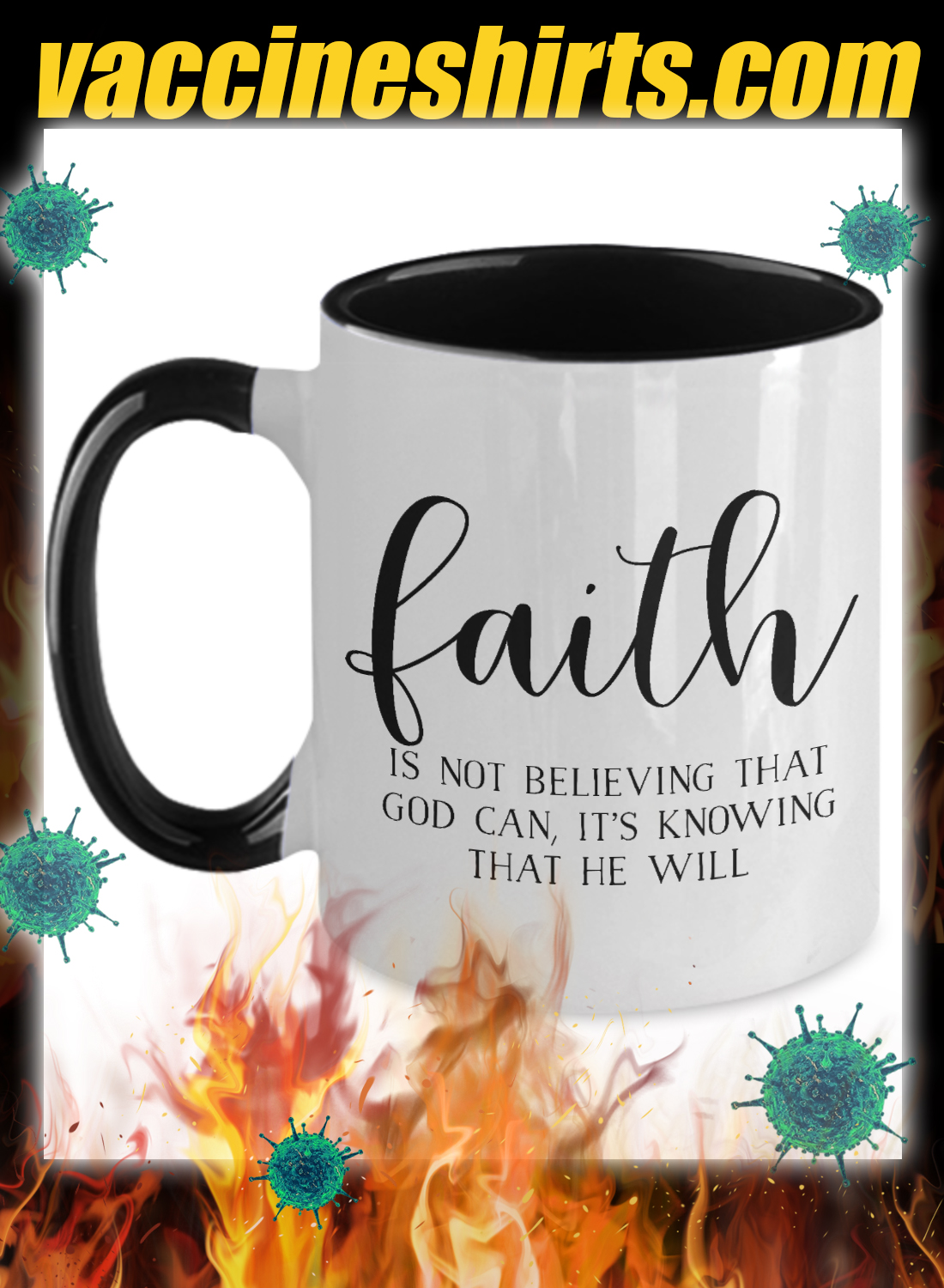 Faith is not believing that god can mug - detail
