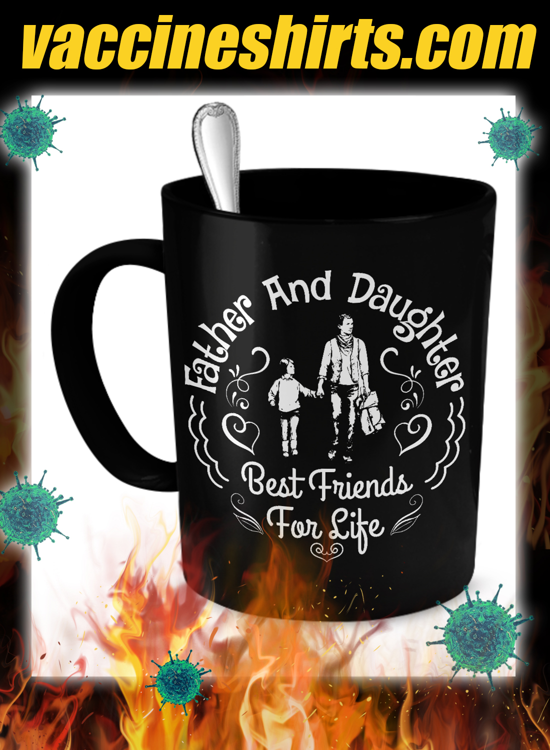 Father and daughter best friends for life mug - detail