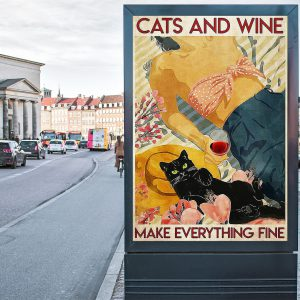 Flower cats and wine make everything fine 1