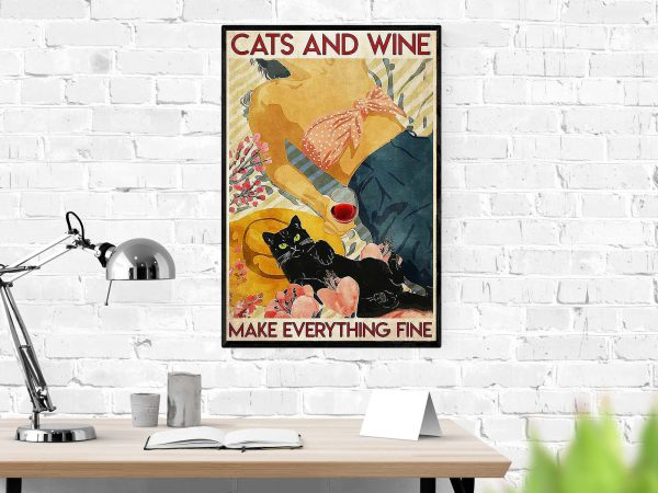 Flower cats and wine make everything fine 2