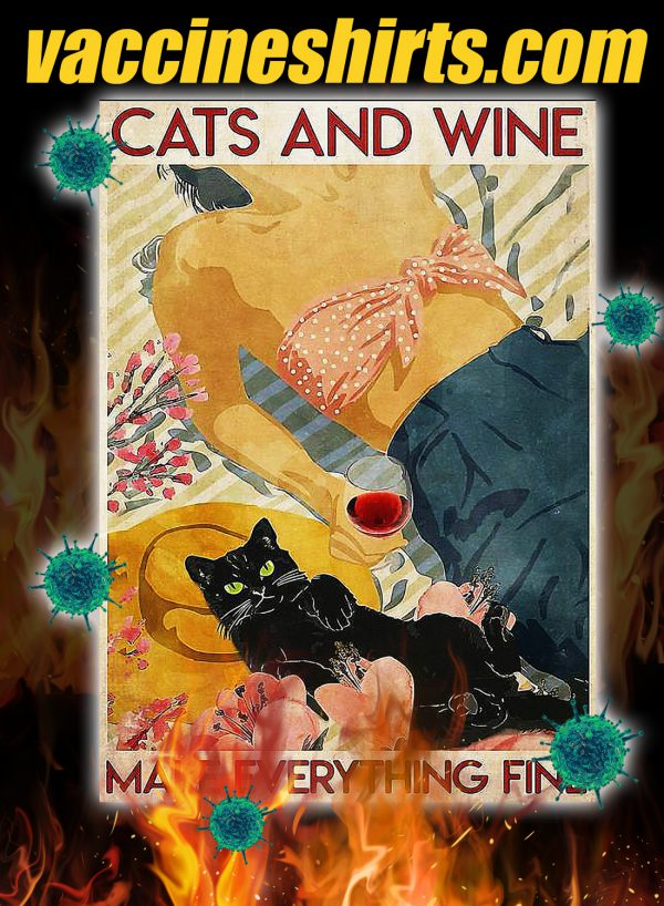 Flower cats and wine make everything fine 3