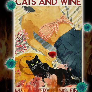 Flower cats and wine make everything fine