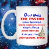 God bless the pastor who survived online church services mug