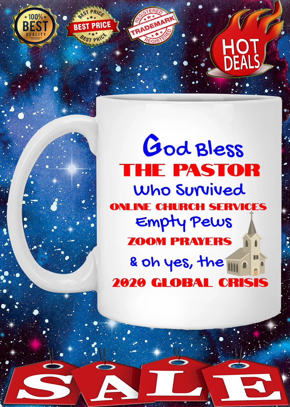 God bless the pastor who survived online church services mug 2