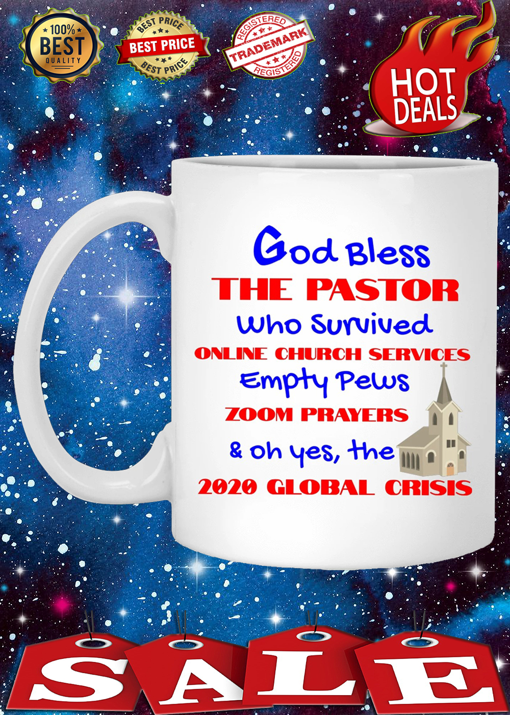 God bless the pastor who survived online church services mug 3