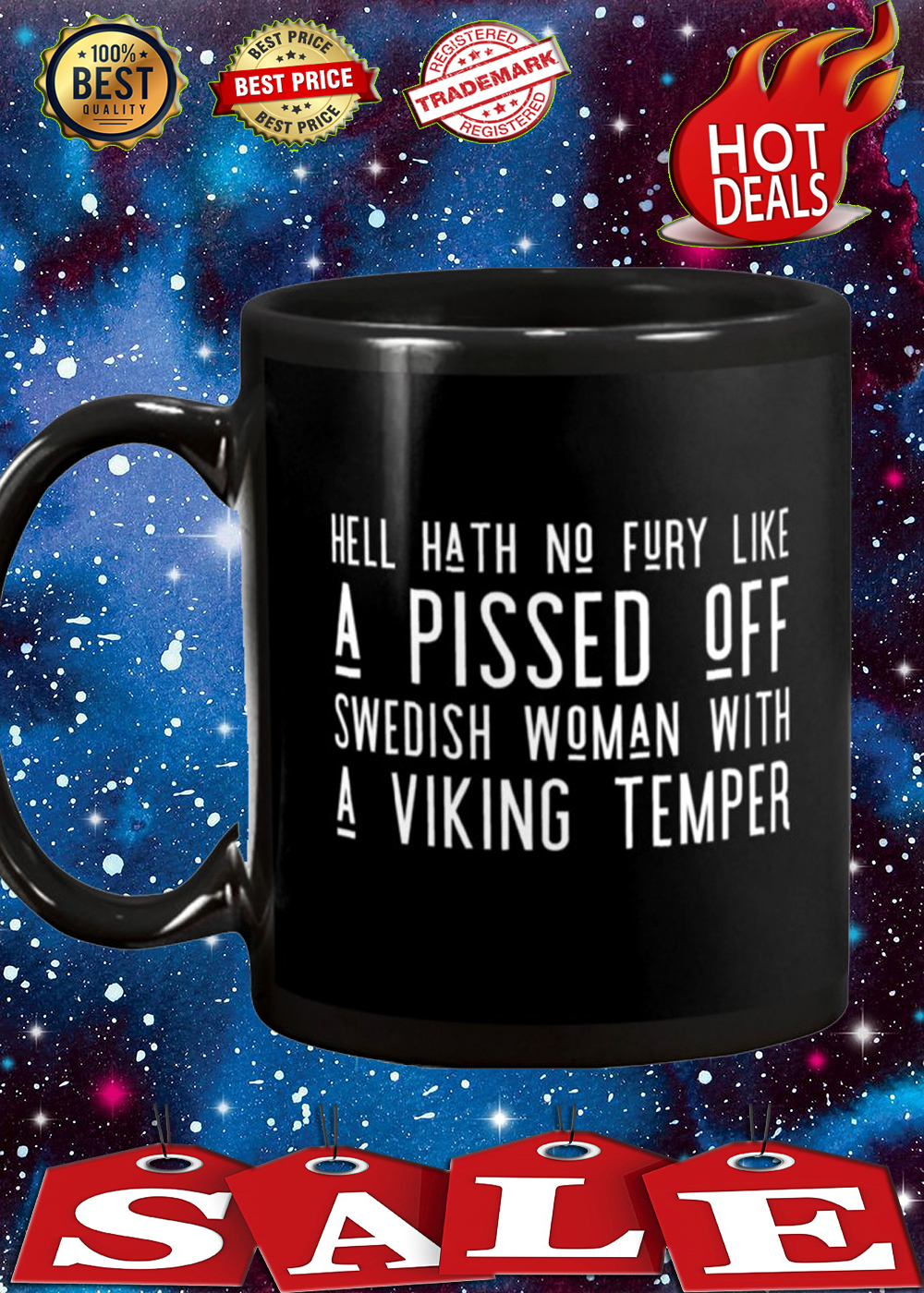 Hell hat no fury like a pissed off swedish woman with a viking temper mug 1