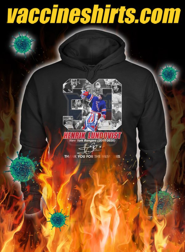 Henrik lundqvist thank you for the memories signature hoodie