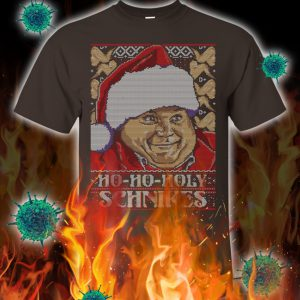 Ho ho holy schnikes t-shirt- brown
