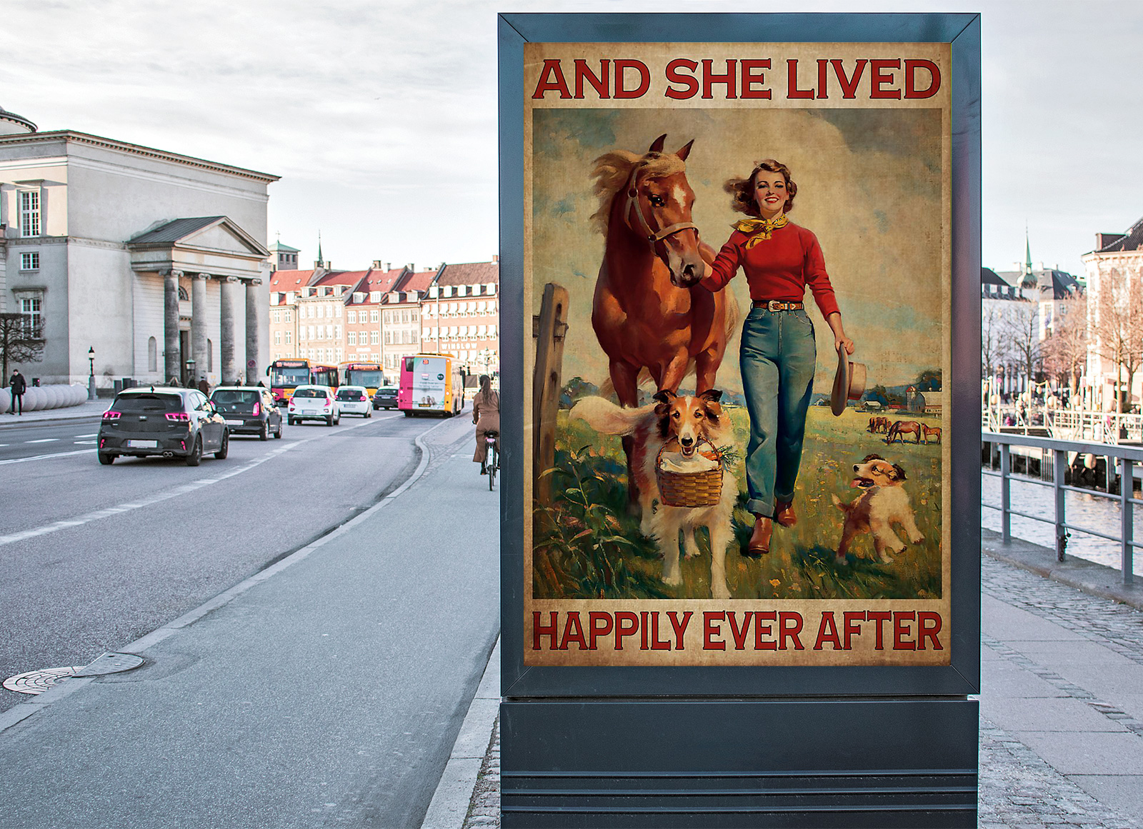 Horse and dog And she lived happily ever after poster 1