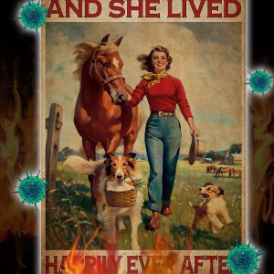 Horse and dog And she lived happily ever after poster 2