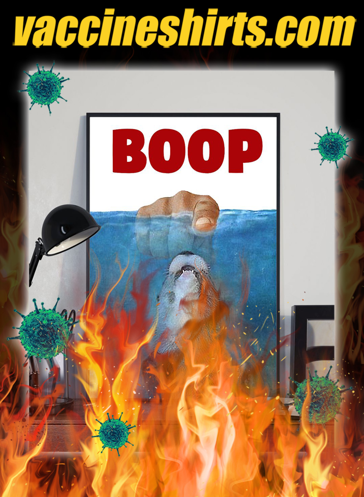 Jaws Otter boop poster- A2