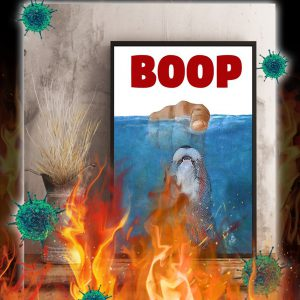 Jaws Otter boop poster- A3
