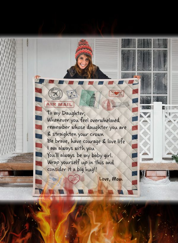 Letter to my daughter whenever you feel overwhelmed quilt blanket 4