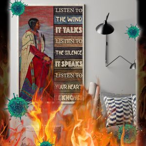 Native girl listen to the wind poster- A1