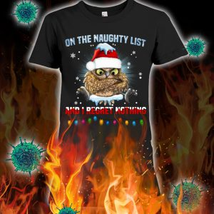Owl on the naughty list and i regret nothing christmas lady shirt