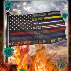 Patriotic support appreciation corrections dispatch ems nurse flag