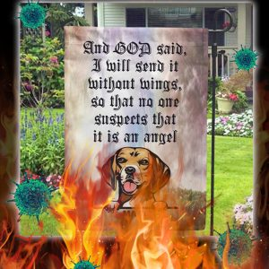 Personalized custom name Dog And god said i will send it flag