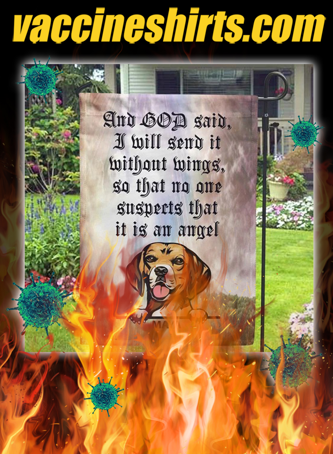 Personalized custom name Dog And god said i will send it flag- pic 1