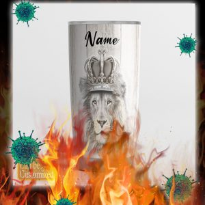 Personalized custom name Lion to my son never forget that i love you tumbler- pic 2