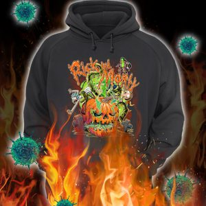 Rick and morty pumpkin halloween hoodie
