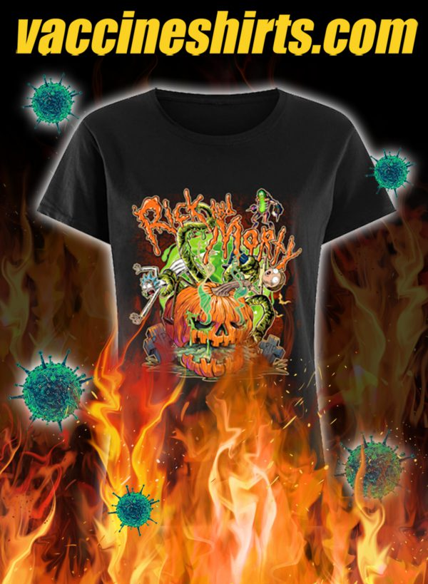 Rick and morty pumpkin halloween lady shirt