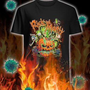 Rick and morty pumpkin halloween shirt