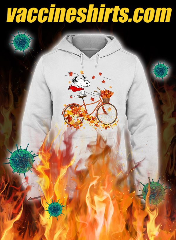 Snoopy bicycle autumn hoodie
