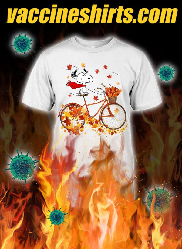 Snoopy bicycle autumn shirt