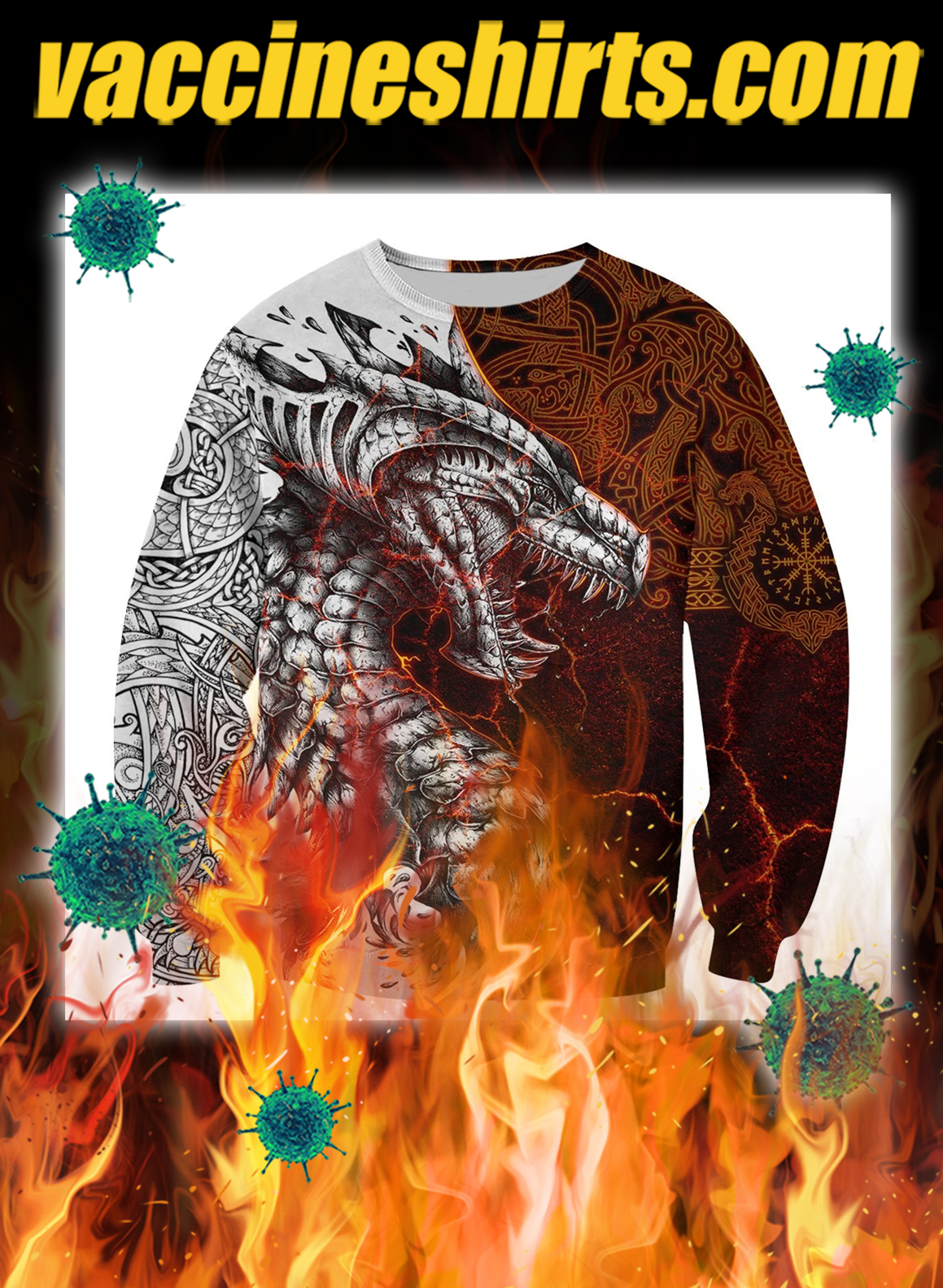 Tattoo dragon 3d full printing sweatshirt